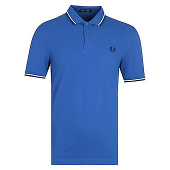 Fred Perry Twin Tippet Marineblå Polo Skjorte
