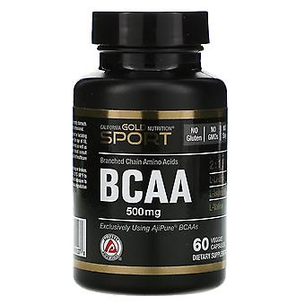 California Gold Nutrition, BCAA, AjiPure® Branched Chain Amino Acids, 500 mg, 60