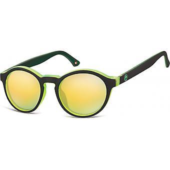 Sonnenbrille Unisex by SGB    schwarz/hellgrün (MS100)