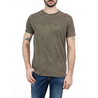 Replay Men's Faded Effect T-Shirt Regular Fit Kaki