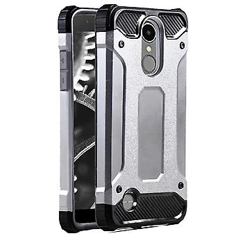 Shell for LG K8 (2017) / LV3 Silver Armor Protection Case Hard