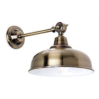 Firstlight Preston - 1 Light Indoor Wall Light Antique Brass, E14