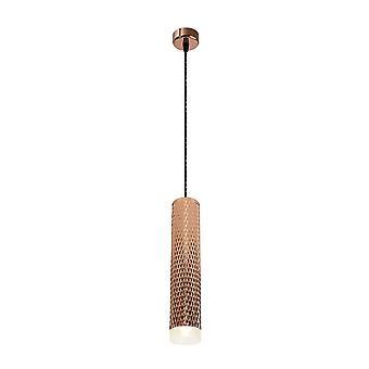 Luminosa Beleuchtung - 1 Licht 30cm Decke Anhänger Licht GU10, Rose Gold, Acryl-Ring