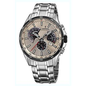 Festina chronograph watch for Analog Quartz Men with stainless steel bracelet F20200/2