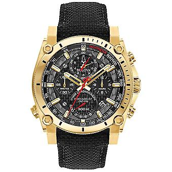 Bulova mannen Sport Champlain precisionistische Black And Gold 97B178 Watch