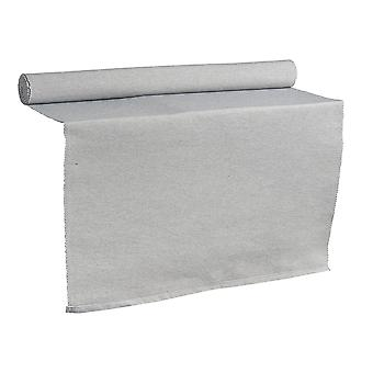Nicola Spring Ribbed Rectangular Cotton Dining Table Runner - 183 x 48cm - Grey