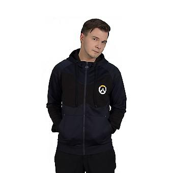 Overwatch Athletic Tech Full Length Zipper Hoodie Male XX-Large Black/Blue