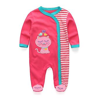 Novorozené dítě a oblečení, bavlněné romper pyžamo, kreslené běžné oblečení