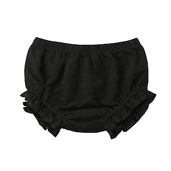 Baby Boy Girl Ruffles Shorts Bottoms Solid Pp Bloomers Cotton Nappy Diaper Covers Cute Panties