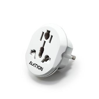Best 16a Universal Eu Travel Adapter Euro Converter Uk Us Au To Eu Ac Power Socket Plug Travel Charger Adapter Converter 250v