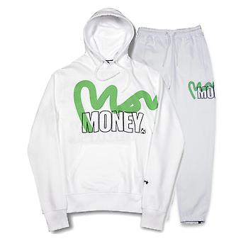 Money Stencil Logo Hooded Tracksuit White 52