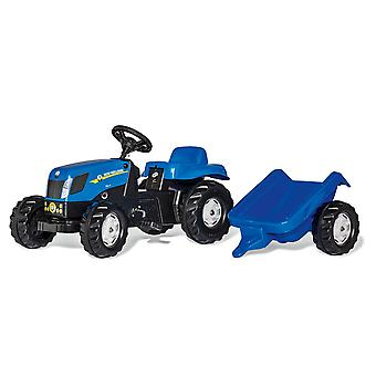 Rolly kid new holland T7040 tractor & trailer for  2.5 - 5 years old