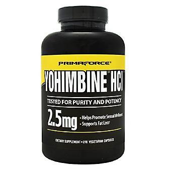 Primaforce Yohimbe HCL, 2,5 mg, 270 bouchons