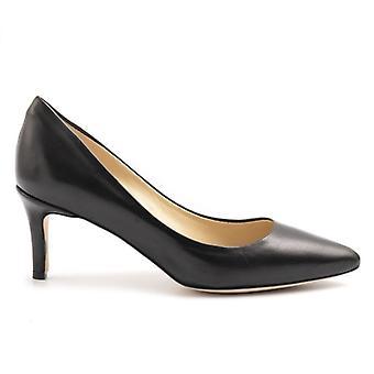 Décolleté L'arianna Nero In Medium Heel Leather