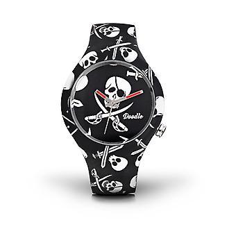 Doodle Skull Mood Watch - Dosk002