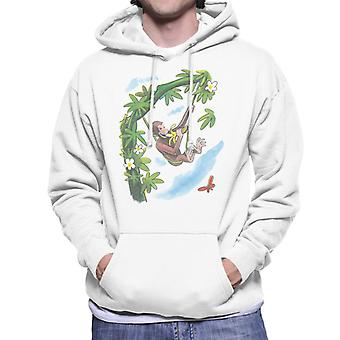Curious George Vine Hammock And Banana Men's Hooded Sweatshirt