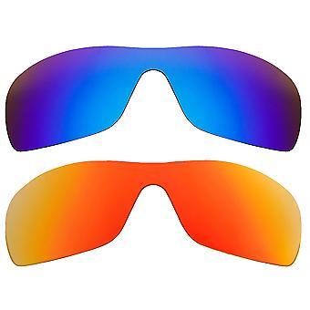 استبدال العدسات لأوكلي Batwolf النظارات الشمسية متعددة الألوان المضادة للخدش المضادة للوهج UV400 من قبل SeekOptics