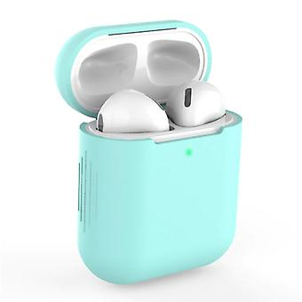 SIFREE Flexible Case for AirPods 1/2 - Silicone Skin AirPod Case Cover Smooth - Turquoise