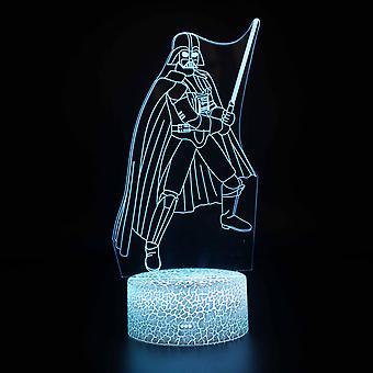 Kind cadeau 3D Touch Light Night 7 kleuren afstandsbediening - Star Wars #180