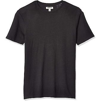 Marke - Goodthreads Men's Leinen Baumwolle Crewneck T-Shirt, schwarz, Mittlere...