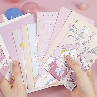 גלוית נייר סדרת ורוד יפה, כרטיסי ברכה מצוירים Diy, יום הולדת הודעה