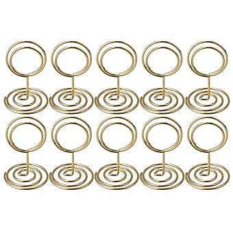 10pcs Ronde Gold Wire Card Memo Houder Stand 5CM Picture Clip