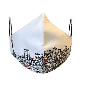 Seattle Embroidered Skyline Fashionable Face Mask