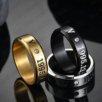 Boysthree Colors Member Name Ring, High Gloss Rings