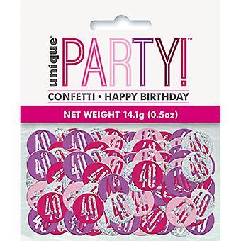 Unika Party Glitz 40th födelsedag bord konfetti