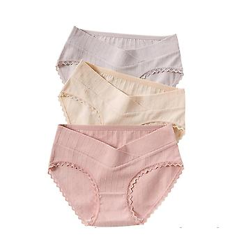 Sexy Printed Cotton Maternity Panties Low Waist V Briefs For Pregnant Women