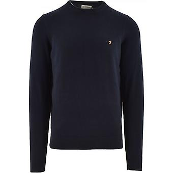 Farah Navy Mullen Cotton Sweatshirt