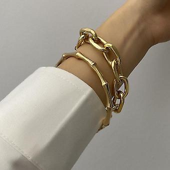 Mode Metall Kette Link kreative Bambus Armband/Armreif