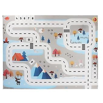 Large City, Traffic Car Park Play Mat - Waterproof, Non-woven, Playmat