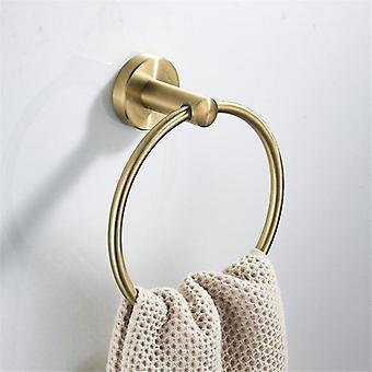 Support d'anneaux de serviette montés mur en acier inoxydable