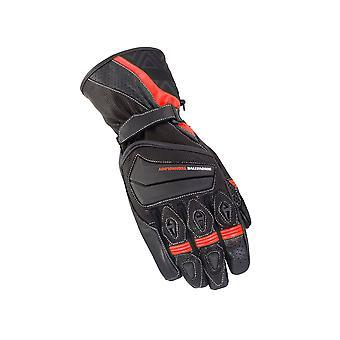 Bike It Spyder Black/Red Summer Road Gloves