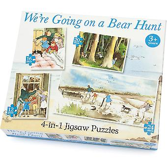 University Games We're Going on a Bear Hunt 4in1 Puzzle