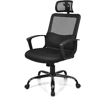 Mesh Computer Chair Office Chair Swivel Adjustable Adjustable Height Home Black