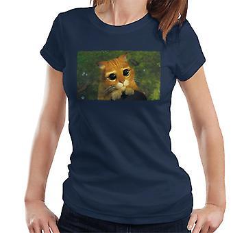 Shrek Mästerkave i stövlar söta ögon Kvinnor's T-shirt