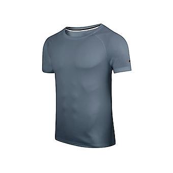 Ventilerande Kort ärm Män Running Fitness Tshirt, Quick Dry Soccer Jersey