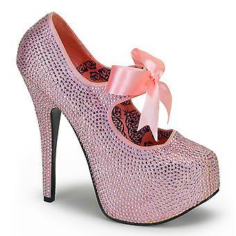 Bordello Women's Shoes TEEZE-04R B. Pink Rhinestones