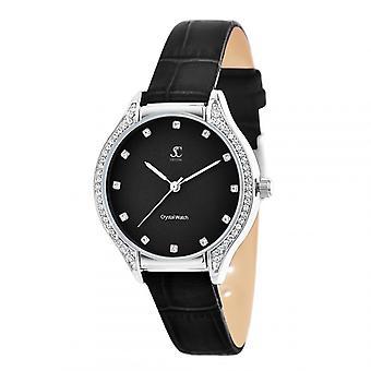 Reloj de mujer tan encanto MF447-NFN - pulsera de cuero negro