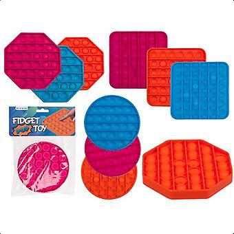 2-Pack Fidget Pop It Leketøy Stress slappe av forskjellige farger og former
