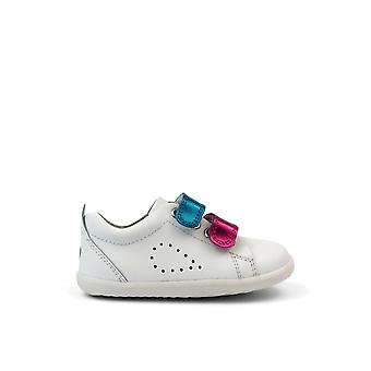 BOBUX Su Grass Court Switch Shoe White & Raspberry Metalic