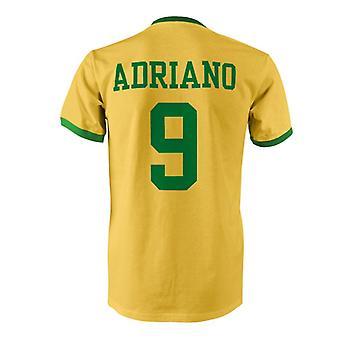 Adriano 9 Brasil país Ringer t-shirt