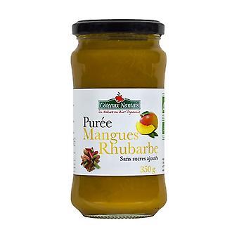 Rhubarb mango puree without sugar 350 g