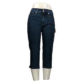 NYDJ Women's Petite Jeans Cotton Cropped 5 Pockets Blue