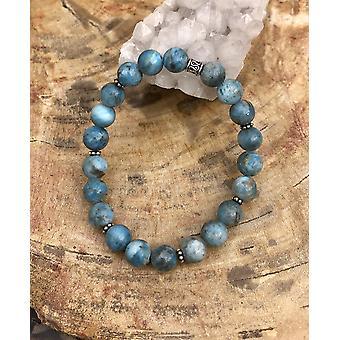 Blue Apatite Stretch Bracelet! Natural Gemstone Bracelet!