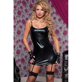 Indecent Desires Stretchy Lame Scoop Neck Fitted Dress