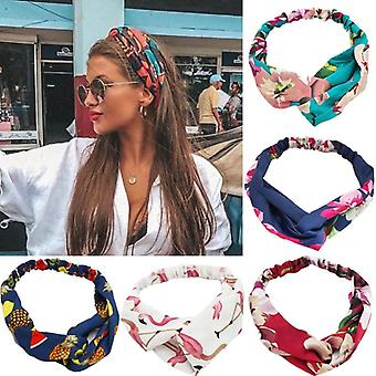 Bohemian Print Headbands- Vintage Cross, Turban Bandanas, Hair Bands