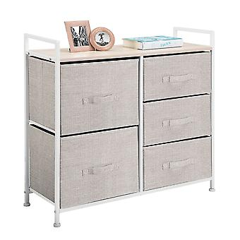 mDesign Wide Dresser Storage Tower Organizer Unit, 5 Schubladen
